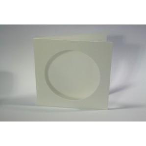 CraftEmotions linnen kaart passpartout rond 10st champagne 13,5x13,5cm 250gr / LHC-06