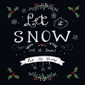 CraftEmotions servetten 5st - Let it snow 33x33cm Ambiente 33305165