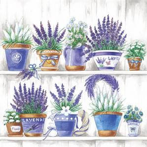 CraftEmotions servetten 5st - Lavendel 33x33cm Ambiente 13308495