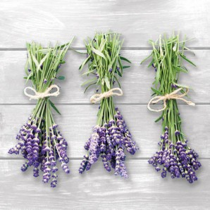 CraftEmotions servetten 5st - Lavendel hangend 33x33cm Ambiente 13308541