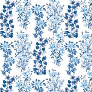 CraftEmotions servetten 5st - Veld bloemen blauw 33x33cm Ambiente 13309151