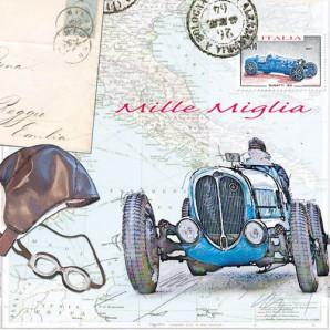 CraftEmotions servetten 5st - Mille miglia 33x33cm Ambiente 13309175