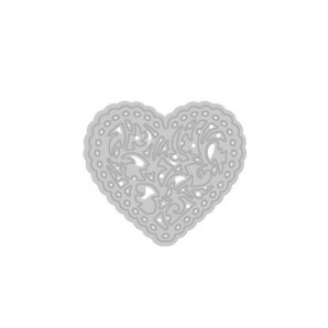 Tonic Studios Die - Rococo delicate heart 085E