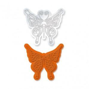 Tonic Studios Die & Stamp set - Rococo butterfly julliet 1042E