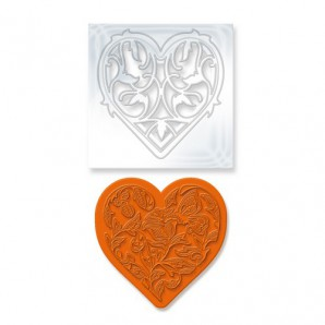 Tonic Studios Die & Stamp set - Rococo vine heart 1044E