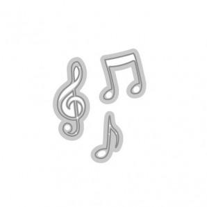 Tonic Studios Die - Rococo petite - musical notes 1180E