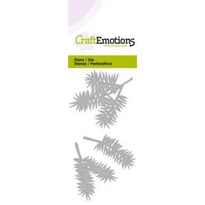 CraftEmotions Die - dennentakken Card 5x10cm (07-16)