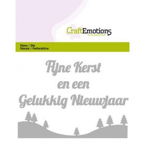 CraftEmotions Die Tekst - Fijne Kerst (NL) Card 11x9cm (07-16)