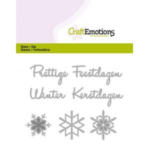 CraftEmotions Die Tekst - Prettige Feestdagen (NL) Card 11x9cm (07-16)