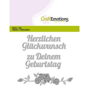 CraftEmotions Die Text - Herzlichen Glückwunsch (DE) Card 11x9cm (07-16)