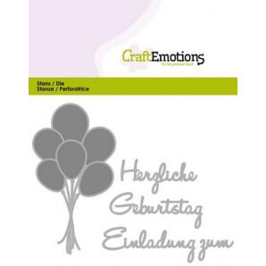 CraftEmotions Die Text - Herzlichen Geburtstag (DE) Card 11x9cm (09-16)