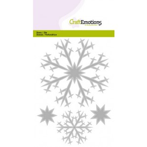 CraftEmotions Die - kristallen groot Card 10,5x14,8cm (07-16)