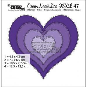 Crealies Crea-nest-dies XXL no. 47  hart max. 13,5 x 12,5 cm / XXL47 (09-16)