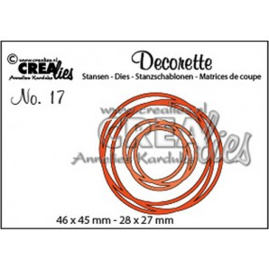 Crealies Decorette no. 17 verstrengelde cirkels 46 x 55mm - 28x 27 mm/ CLDR17