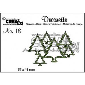 Crealies Decorette no. 18 die boompjes 57 x 41mm / CLDR18 (10-16)