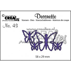 Crealies Decorette no. 43 die Vlinders 5 58x29mm / CLDR43 (02-17)