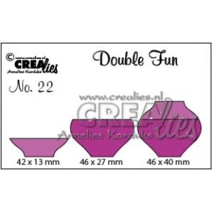 Crealies Double Fun no. 22 Vaas 1 46x40-42x13-46x27mm / CLDF22