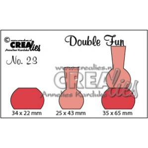 Crealies Double Fun no. 23 Vaas 2 35x65-34x22-25x43mm / CLDF23