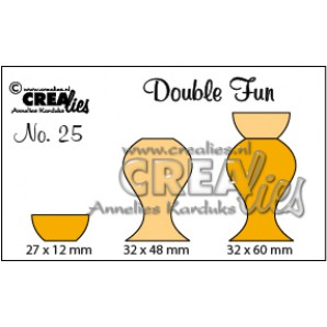 Crealies Double Fun no. 25 Vaas 4 32x60-27x12-32x48mm / CLDF25