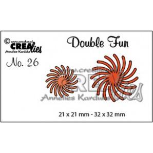Crealies Double Fun no. 26 gedraaide zon 21x21mm - 32x32 mm/ CLDF26