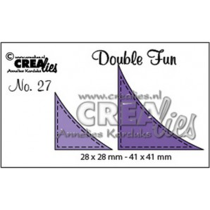 Crealies Double Fun no. 27 Hoekjes met stitch (voor cirkels) 28x28mm - 41x41 mm/ CLDF27 (09-16)