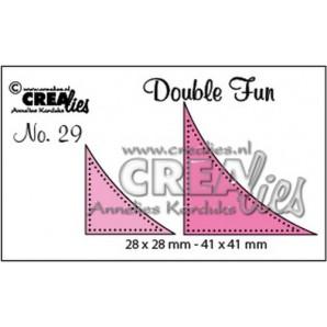 Crealies Double Fun no. 29 Hoekjes met dots (voor cirkels) 28x28mm - 41x41 mm/ CLDF29 (09-16)