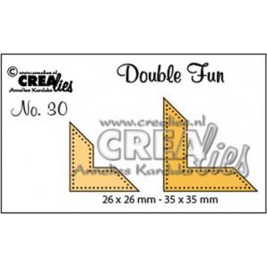 Crealies Double Fun no. 30 Hoekjes met dots (voor vierk/rechth) 26x26mm - 35x35 mm/ CLDF30 (09-16)