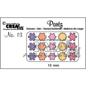 Crealies Partz no. 13 bloemetjes CLPartz13 / 10mm