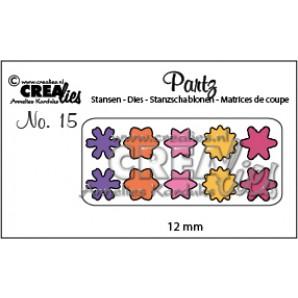 Crealies Partz no. 15 bloemetjes CLPartz15 / 12 mm
