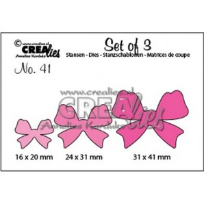 Crealies Set of 3 no. 41 Strikjes 16x20-24x31-31x41mm / CLSET41 (09-16)
