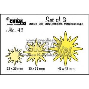 Crealies Set of 3 no. 42 Sterren 23x23-33x33-43x43mm / CLSET42 (09-16)