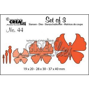 Crealies Set of 3 no. 44 Vlinders 6 19x20-28x30-37x40mm / CLSET44 (12-16)
