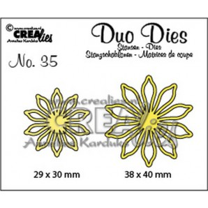 Crealies Duo Dies no. 35 bloemen 17 38x40mm-29x30mm / CLDD35
