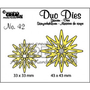 Crealies Duo Dies no. 42 Sterren 33x33mm-43x43mm / CLDD42 (09-16)