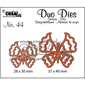 Crealies Duo Dies no. 44 Vlinders 6 37x40mm-28x30mm / CLDD44 (12-16)