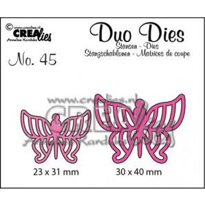 Crealies Duo Dies no. 45 Vlinders 7 30x40mm-23x31mm / CLDD45 (12-16)