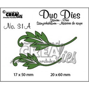 Crealies Duo Dies no. 31A blaadjes 1 spiegelbeeld 20x60mm-17x50mm / CLDD31A