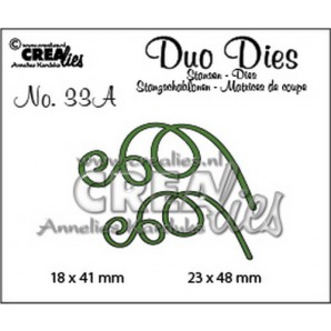 Crealies Duo Dies no. 33A blaadjes 3 spiegelbeeld 23x48mm-18x41mm / CLDD33A