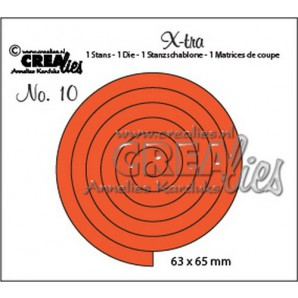Crealies X-tra no. 10 Stans spiraal 63x65mm / CLXTRA10 (10-16)