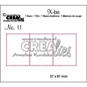 Crealies X-tra no. 11  3 postzegels 37x81mm / CLXTRA11 (10-16)