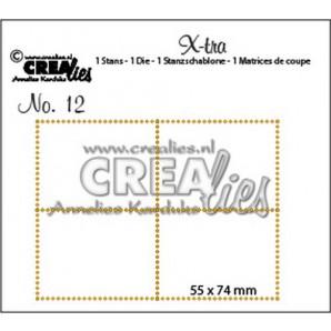 Crealies X-tra no. 12  4 postzegels 55x74mm / CLXTRA12 (10-16)