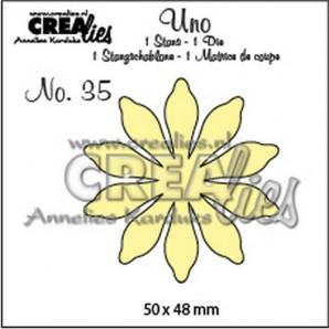 Crealies Uno no. 35 Bloemen 17 50 x 48 mm / UNO35