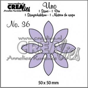 Crealies Uno no. 36 Bloemen 18 50 x 50 mm / UNO36