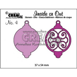 Crealies Insider or Out kerstbal D 37 x 54mm / CLIO04 (09-16)