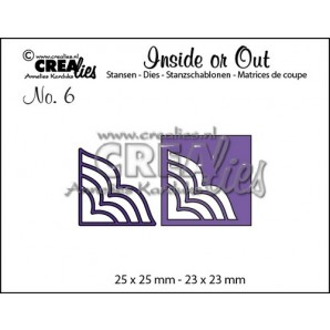 Crealies Insider or Out Corners A 25x25-23x23mm / CLIO06 (02-17)