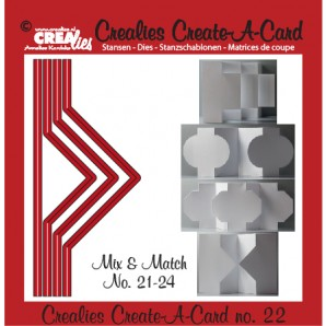 Crealies Create A Card no. 22 stans voor kaart 14,5 x 6,5 cm / CCAC22