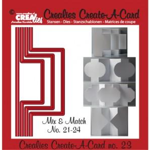 Crealies Create A Card no. 23 stans voor kaart 14,5 x 6,5 cm / CCAC23