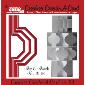 Crealies Create A Card no. 24 stans voor kaart 14,5 x 6,5 cm / CCAC24