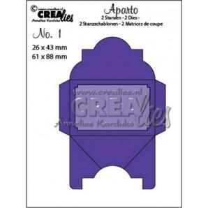 Crealies Aparto no. 1 - Mini Message 1 CLAP01 / 26x43mm - 61x88mm