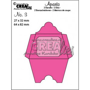 Crealies Aparto no. 3 - Mini Message 3 CLAP03 / 27x32mm - 64x82mm